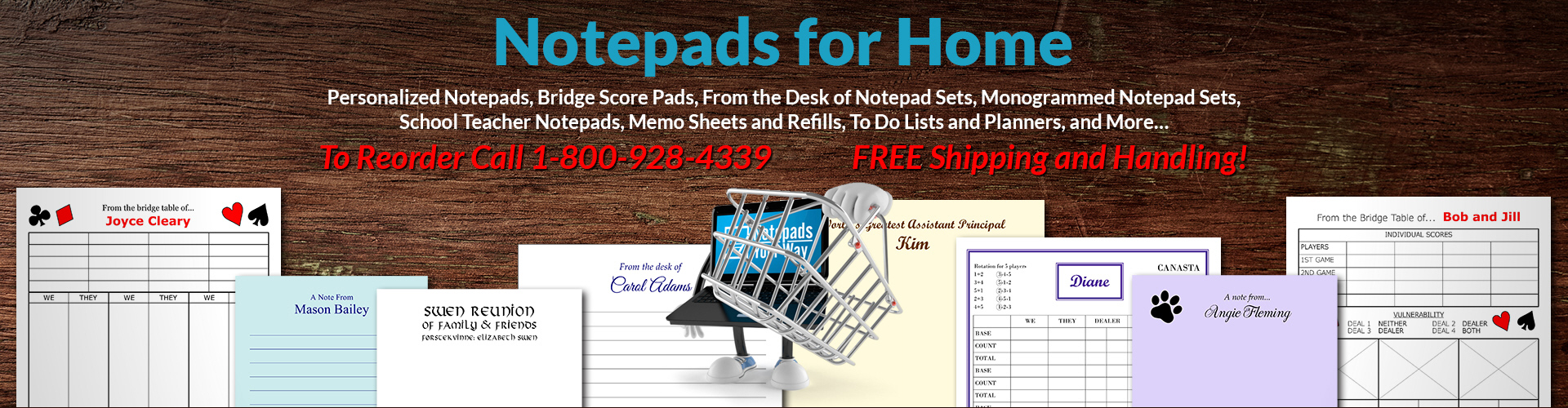 Notepads for Home