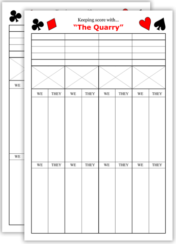 Bridge Score Sheet | Bridge Chicago Bold Bridge Score Pads
